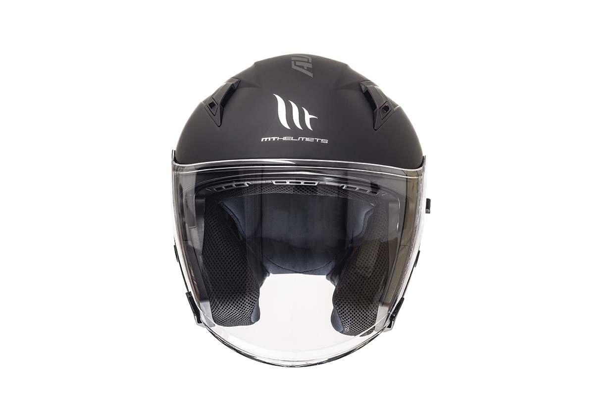 Přilba na motorku otevřená MT Avenue SV černá matná