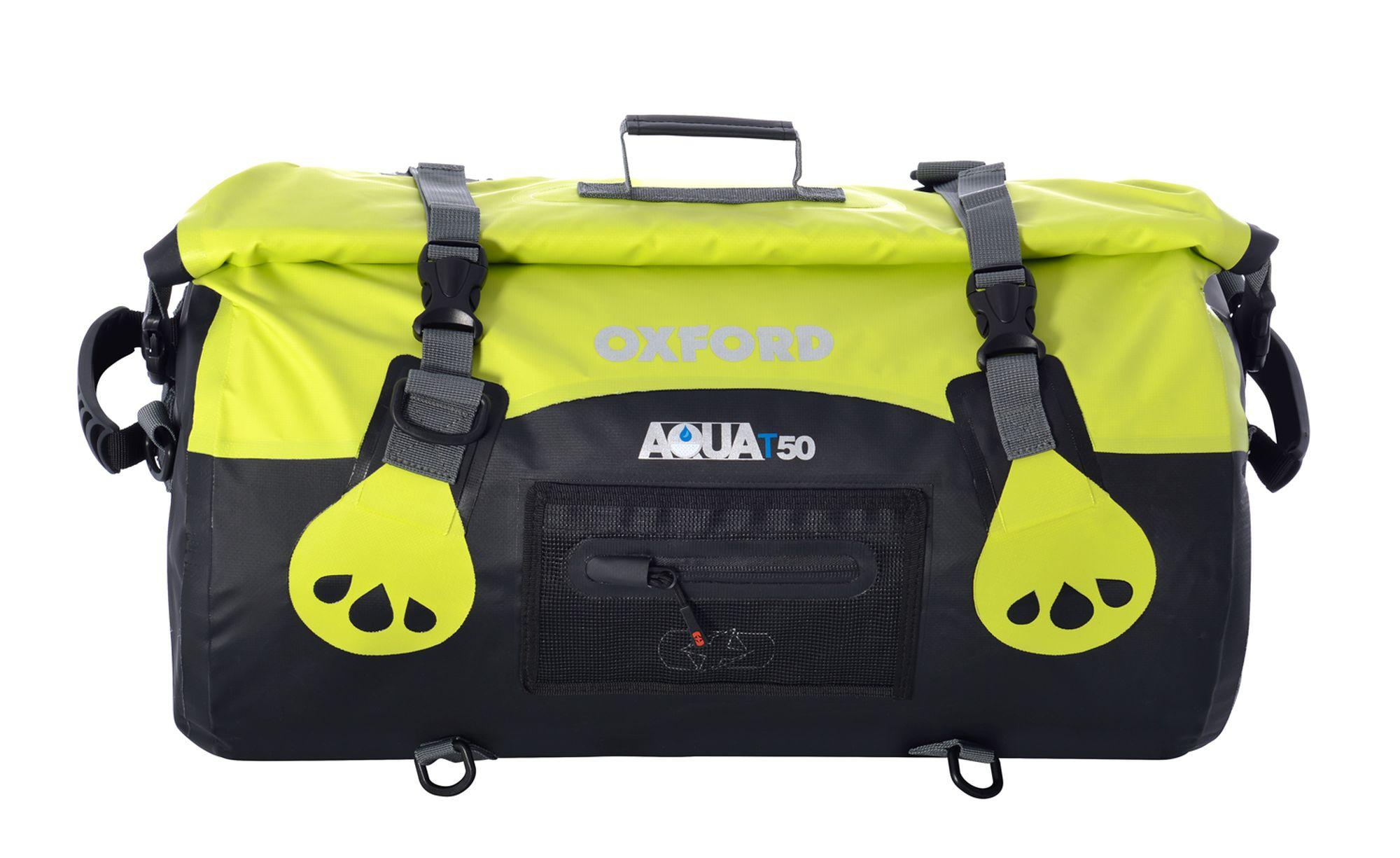 Vodotěsný vak Oxford Aqua50 Roll Bag černo-fluo žlutý