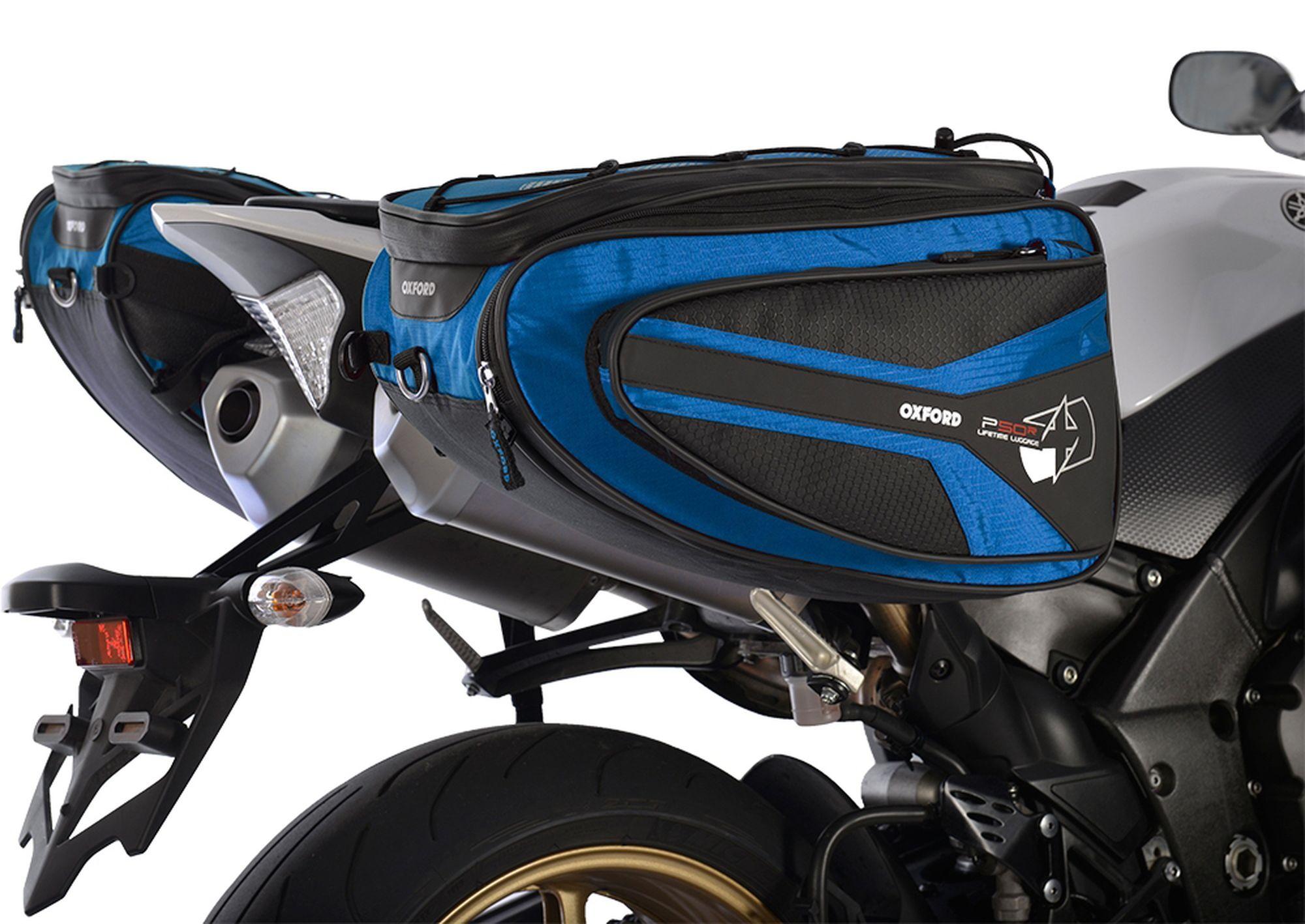 Boční brašny na motocykl Oxford P50R černo-modré