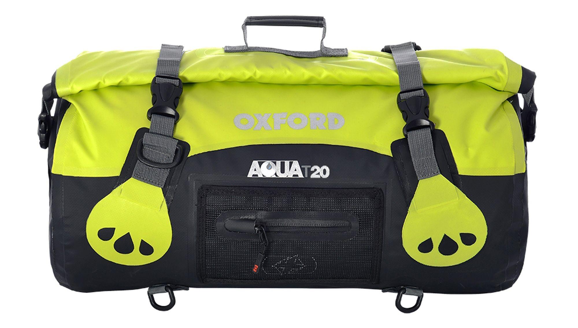Vodotěsný vak Oxford Aqua20 Roll Bag černo-fluo žlutý
