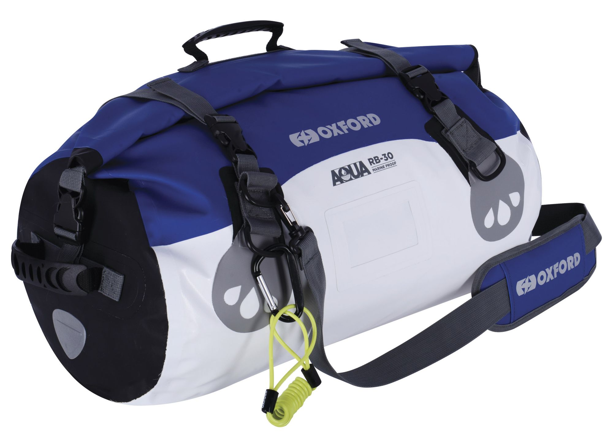 Vodotěsný vak Oxford Aqua RB-30 Roll Bag bílo-modrý
