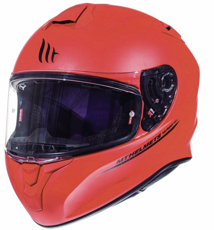 Integrální přilba na motorku MT Targo červená matná