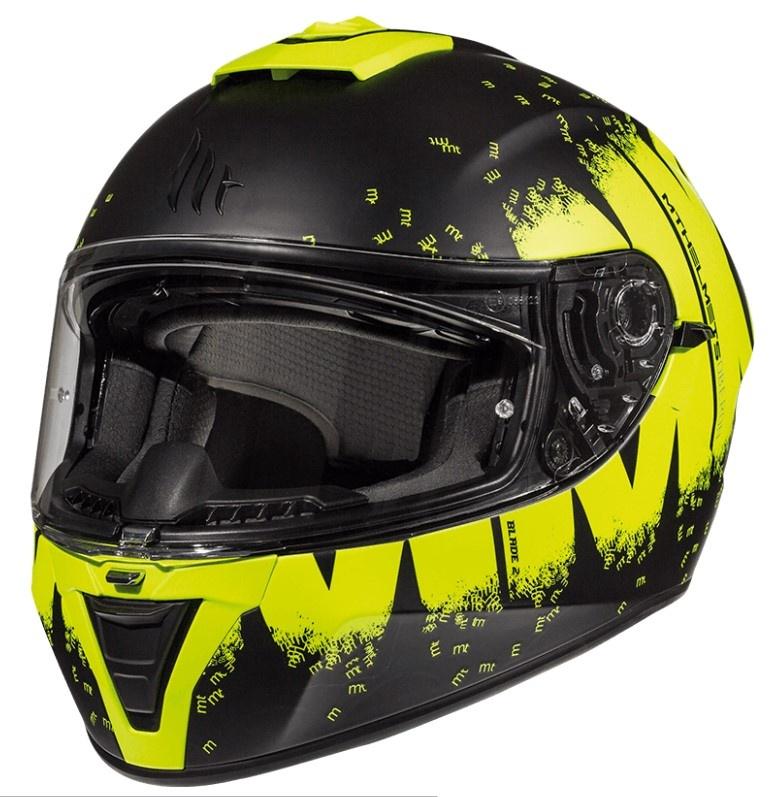 Integrální přilba na motorku MT Blade 2 SV Oberon černo-fluo žlutá
