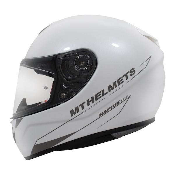 Integrální přilba na motorku MT Rapide bílá