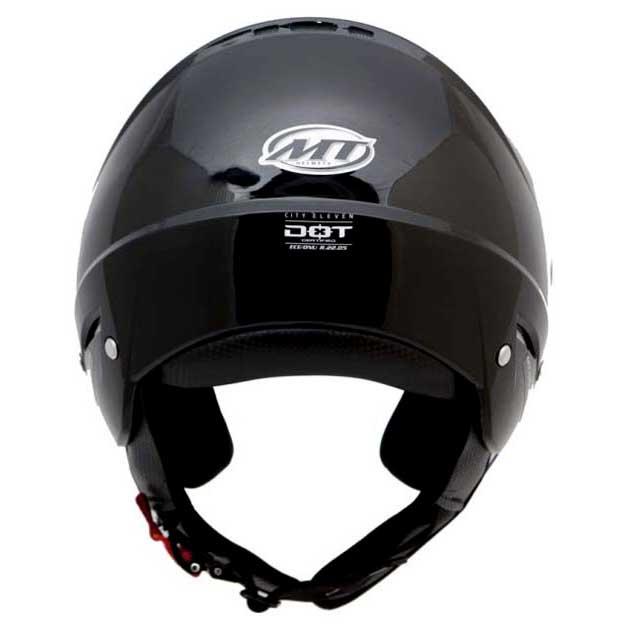 Přilba na motorku otevřená MT City Eleven SV černá
