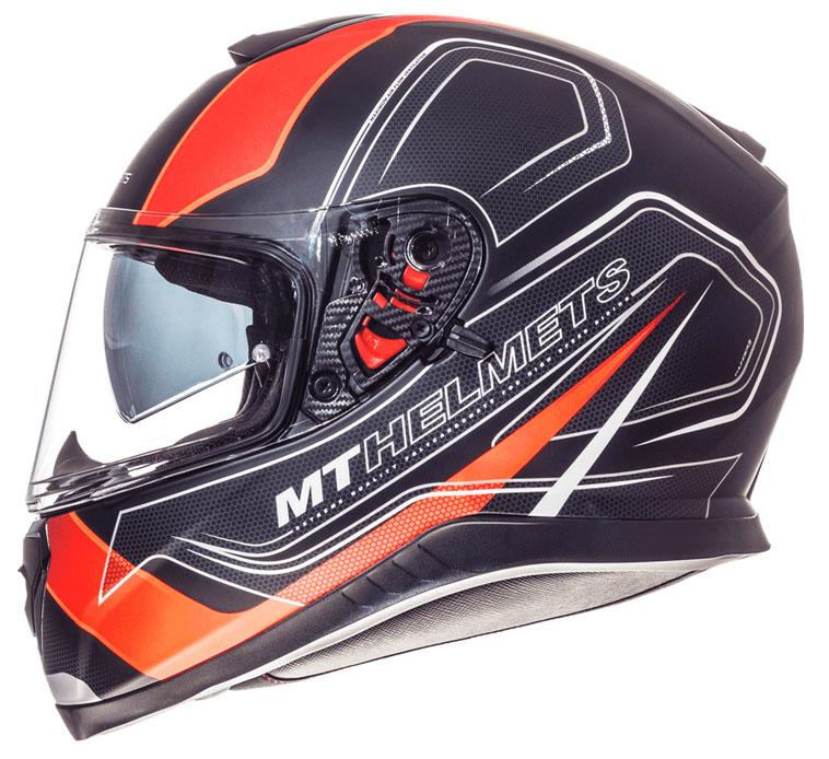 Integrální přilba na motorku MT Thunder 3 SV Trace černá matná-fluo oranžová výprodej