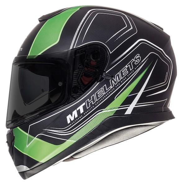 Integrální přilba na motorku MT Thunder 3 SV Trace černá matná-fluo zelená