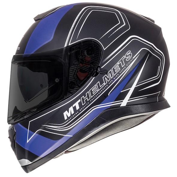 Integrální přilba na motorku MT Thunder 3 SV Trace černá matná-modrá
