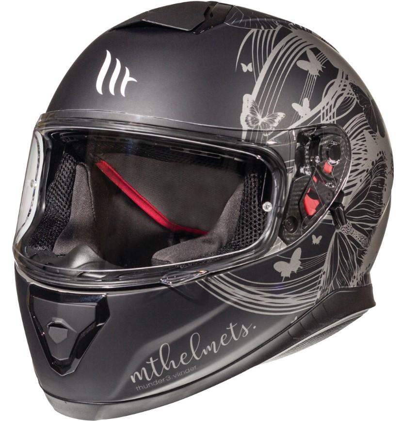 Integrální přilba na motorku MT Thunder 3 SV Vlinder šedá matná