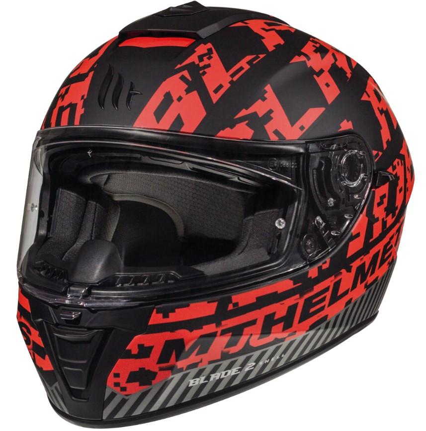 Integrální přilba na motorku MT Blade 2 SV Check černo-červená