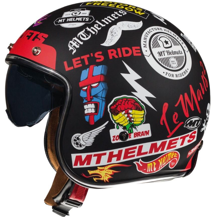 Otevřená přilba na motorku MT LeMans 2 SV Anarchy černá matná