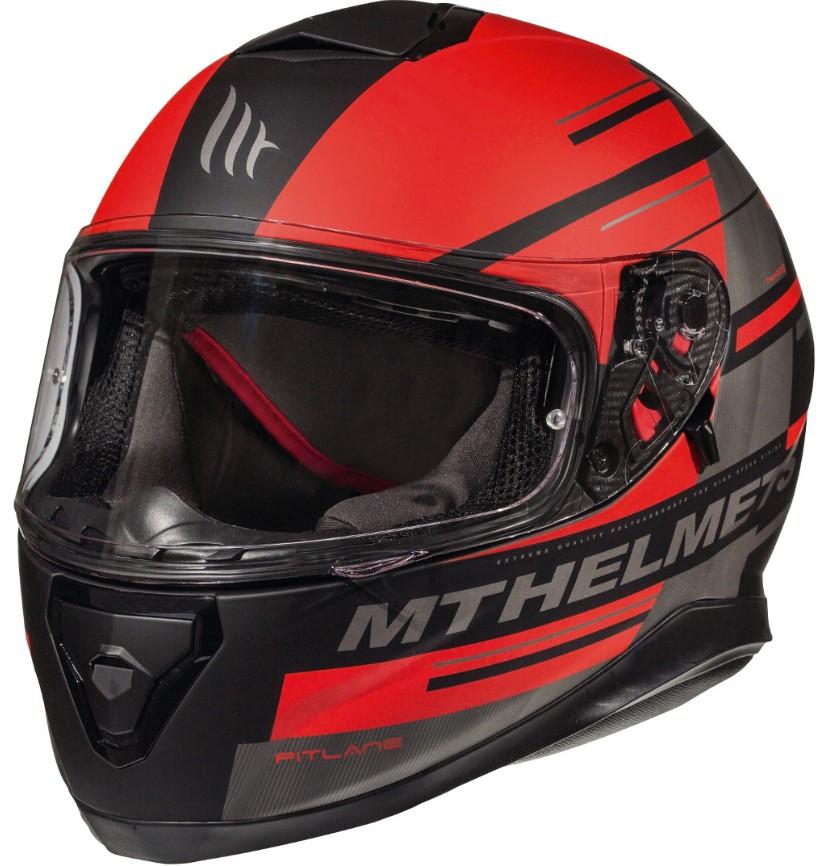 Integrální přilba na motorku MT Thunder 3 SV Pitlane černo-červená