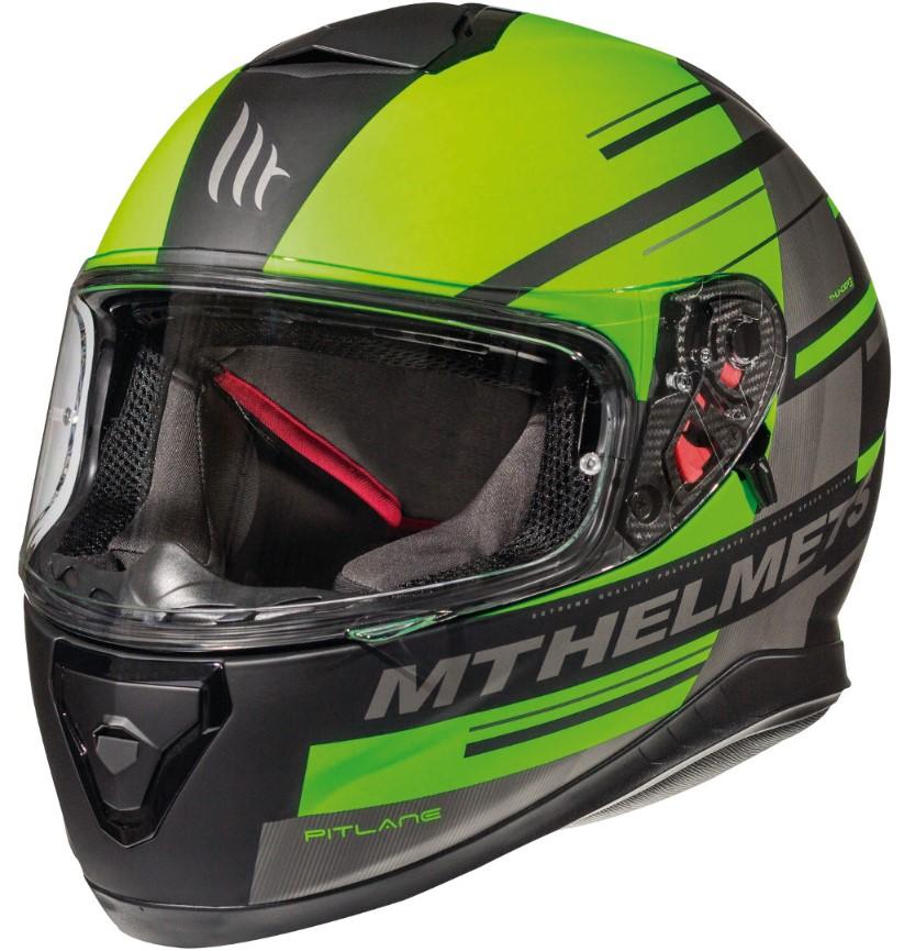 Integrální přilba na motorku MT Thunder 3 SV Pitlane černo-fluo zelená