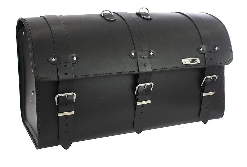Kožený moto kufr na motorku Chopper RSA-8A