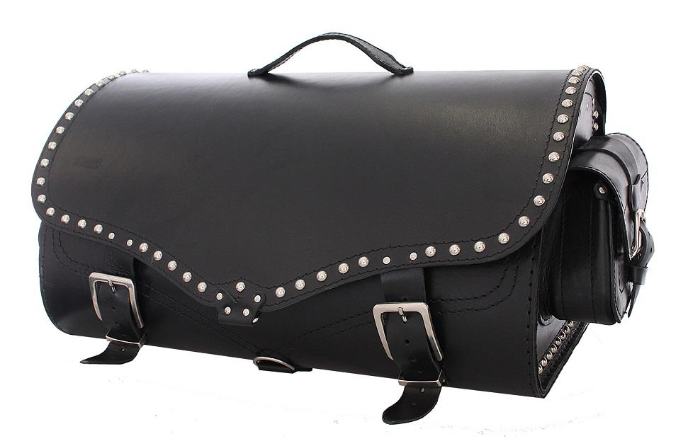 Kožený moto kufr na motorku Chopper RSA-220B výprodej