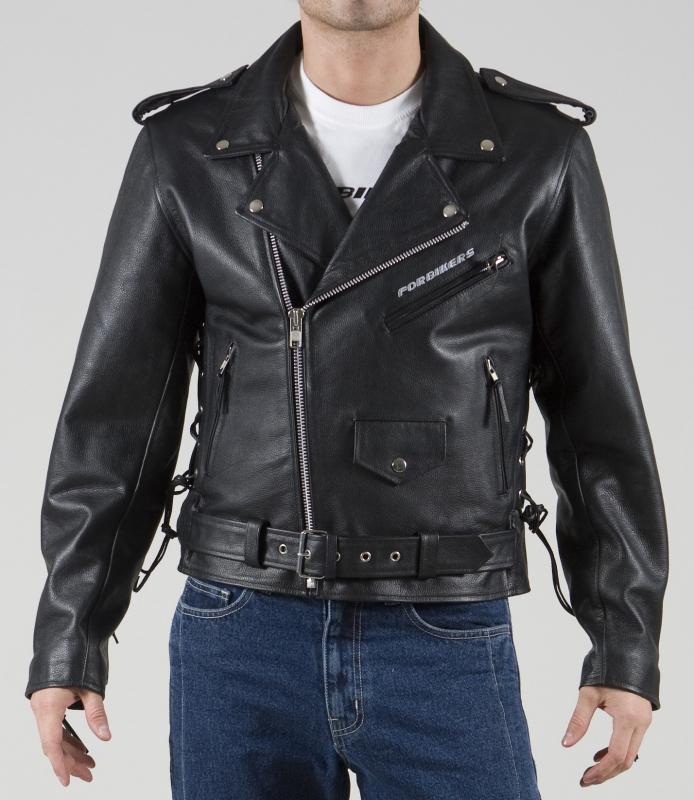 Kožená bunda na moto ForBikers Colorado s třásněmi vel 4XL  2cc83367405