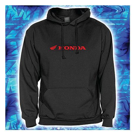 Mikina s motivem Honda černá s kapucí výprodej b81003372c0