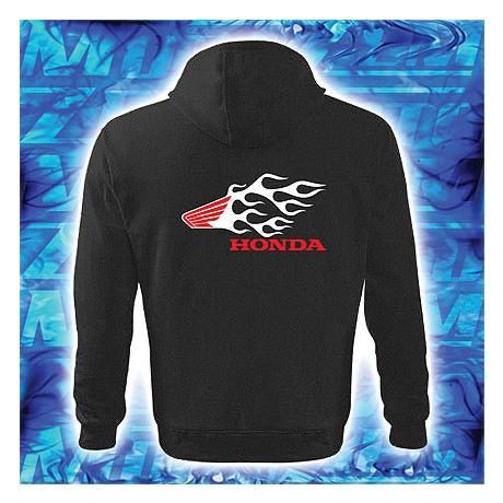 ... Mikina s motivem Honda černá s kapucí výprodej f8e6868697