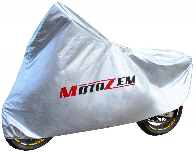 Plachta na motorku Motozem - stříbrná  950609d43b