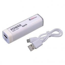 POWER BANK 2600mA bílý + 30cm kabel