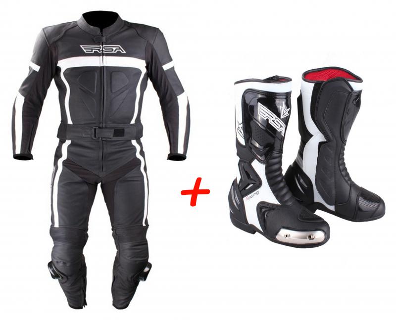 45f42478ba1 SET  Kombinéza RSA Nero + moto boty RSA Racing II