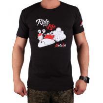 Triko s motivem Motozem Ride your life černé cf7ddc5bfa