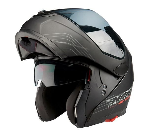 Vyklápěcí přilba na motorku Nox N964 Lines černá matná  02a89596bd